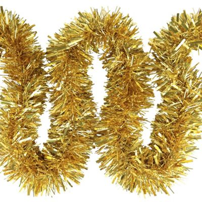 6m Gold Chunky Cut 10cm Christmas Tree Tinsel