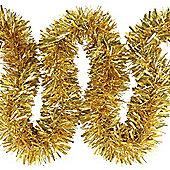 6m Gold Chunky Cut 10cm Christmas Tree Tinsel