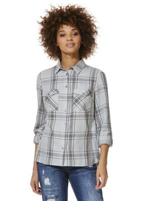F&F Checked Shirt 8 Grey