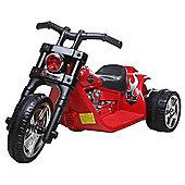 6V Twin Motor Chopper Bike Red