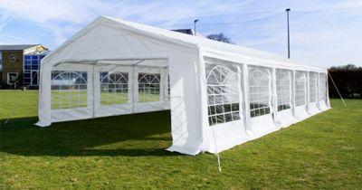 White 4x10m Wedding Garden Party Marquee