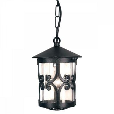Black Porch Chain Lantern - 1 x 100W E27