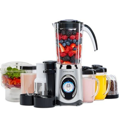 Andrew James 5 in 1 Smoothie Maker With Mini Chopper in Silver