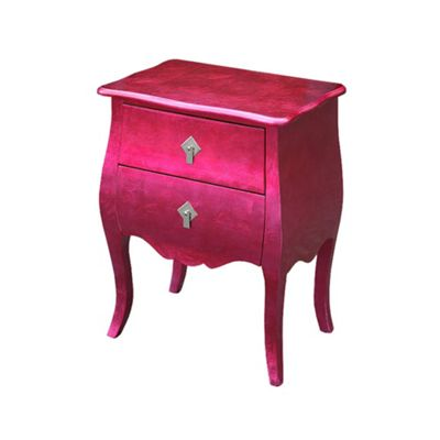 High Gloss Pink Bombe Chest