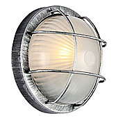 Black Die-Cast Aluminium Outdoor Circular Bulkhead Wall/Ceiling Light