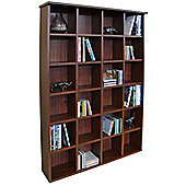 Pigeon Hole - Cd Dvd Blu-ray Media Storage Shelves - Mahogany