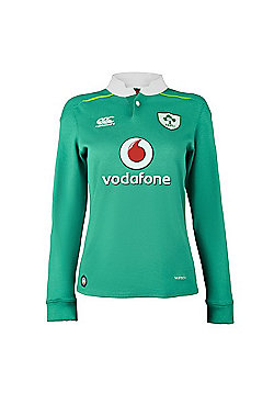 Canterbury Ireland Rugby Home Classic LS Ladies Jersey 16/17 - Green