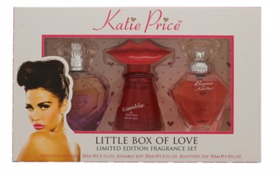 Katie Price Little Box of Love Gift Set 30ml Besotted EDP + 30ml Kissable EDP + 30ml Precious Love EDP For Women