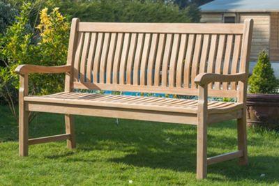 York Teak Garden Bench - 120cm