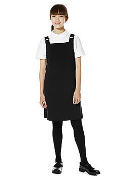 F&F School Soft Touch Pinafore - Black