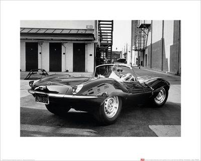Time Life Steve McQueen - Jaguar Mini Print 40 x 50cm