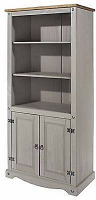 Core Products Corona Grey 2 Door Bookcase