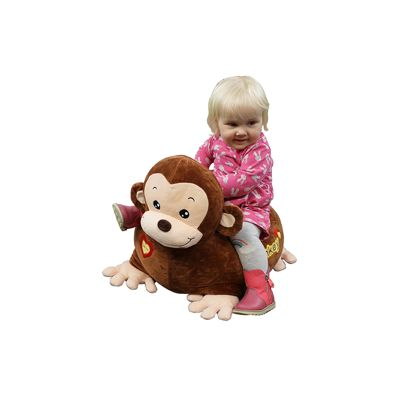Plush Monkey Childs Sofa Riding Chair (Brown)