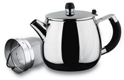 Grunwerg Grandeur Deluxe Stainless Steel Infuser Filter Teapot 48 oz GTL-048