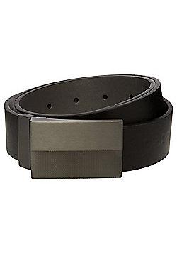 F&F Reversible Plaque Buckle Belt - Black & Grey