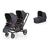 ABC Design Zoom Twin/Tandem Puschair with 1 x Carrycot (2017) - Street