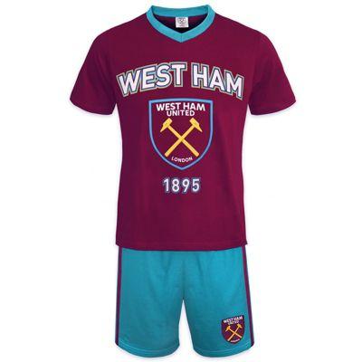 West Ham United FC Mens Short Pyjamas Claret Small