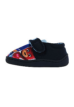 Boys Licensed P J Masks Navy Blue House Slippers Kids Hook & Loop UK Sizes 4-10 - Blue