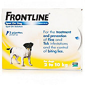 Frontline Spot On (Small Dog 2-10kg) [3 pack]