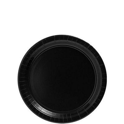 Black Dessert Plates - 17cm Paper - 20 Pack