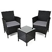 Christow Brown Rattan Table & Chairs Set