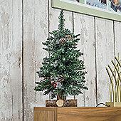 Kaemingk Frosted Sherwood 45cm Mini Tree
