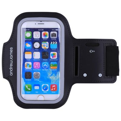 Andrew James Armband Smartphone Holder for Jogging - Running & Exercise -Large - Black