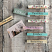 Butterfly Weekly Magnetic Peg Clips
