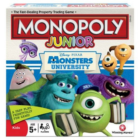 Disney Pixar Monsters University Monopoly Junior