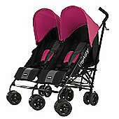 Obaby Apollo Black & Grey Twin Stroller - Pink