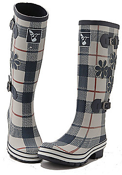 Evercreatures Ladies St George Funky Wellies Tartan Pattern 7