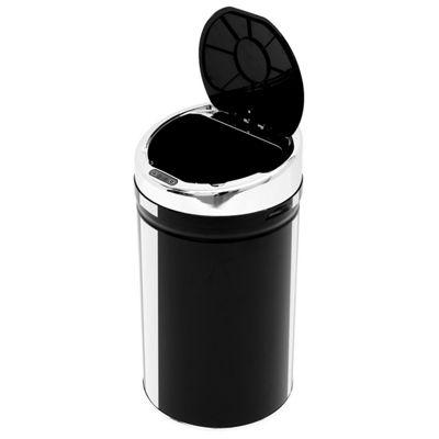 Homcom 30L LUXURY Sensor Kitchen Bin Stainless Steel with Bucket in Black