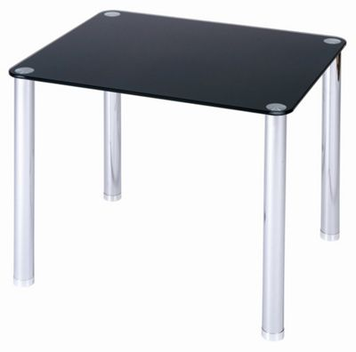 LEVV Glass Top End Table