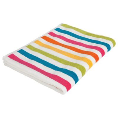 Tesco Bright Stripe Bath Sheet