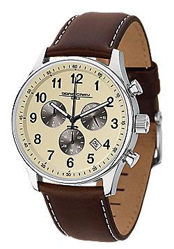 Jorg Gray Men's Watch JG5500-22 Leather Strap Cream Dial