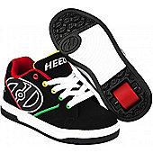 Heelys Propel 2.0 Black/Reggae Kids Heely Shoe UK 3