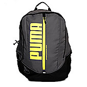 Puma Deck Sports School College Gym Backpack Rucksack Bag Grey/Fluro