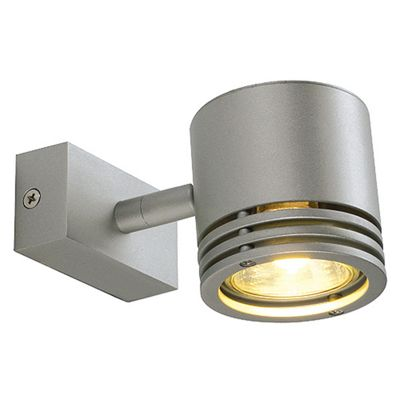Barro Wall And Ceiling Light Round Silvergrey Max. 50W Adjustable Lamp Head