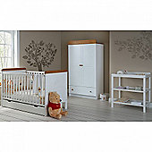 OBaby Winnie the Pooh Double 4pc Room Set (White)