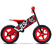 Caretero Zap Wooden Balance Bike (Black/Red)