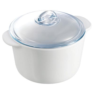 Pyrex flame 3L Round Casserole Dish