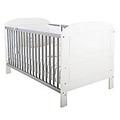 East Coast Angelina Cot Bed, White and Grey
