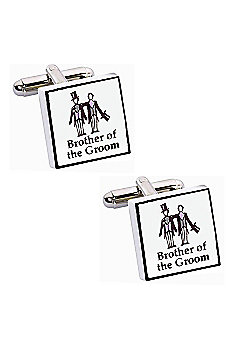 Perfect Day Brother of The Groom Wedding Cufflinks