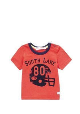 Minoti American Football Logo T-Shirt 12-18 mths Red