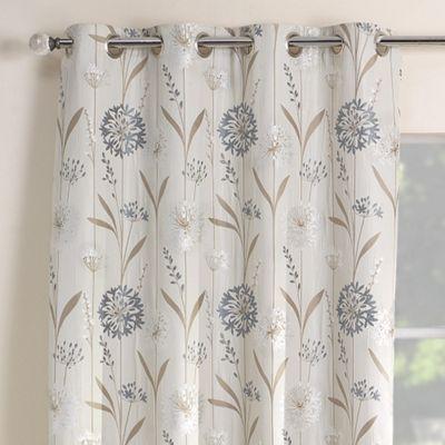 Julian Charles Santorini Cornflower Luxury Jacquard Eyelet Curtain -112x137cm