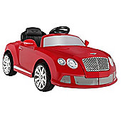 Bentley Continental Gtc By Zaap Ride-On Electric Kids Car Red