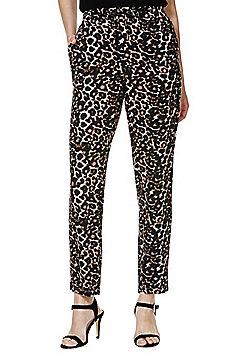 Vero Moda Leopard Print Trousers - Brown