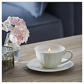 Fox & Ivy Vanilla Chai  Luxury Scented Filled Teacup Candle