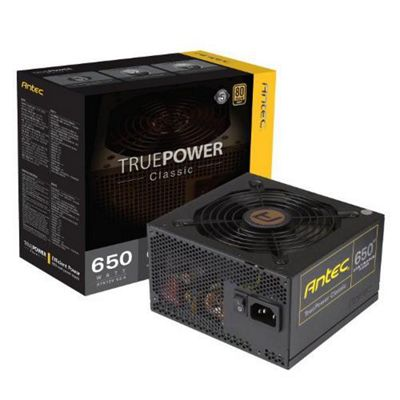 Antec True Power 650 W 80 Plus Gold Power Supply Unit - Black