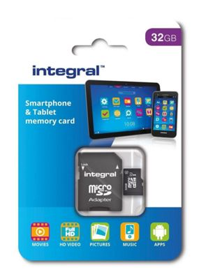 Integral 32GB Smartphone and Tablet micro SDHC UHS-I U1 Card
